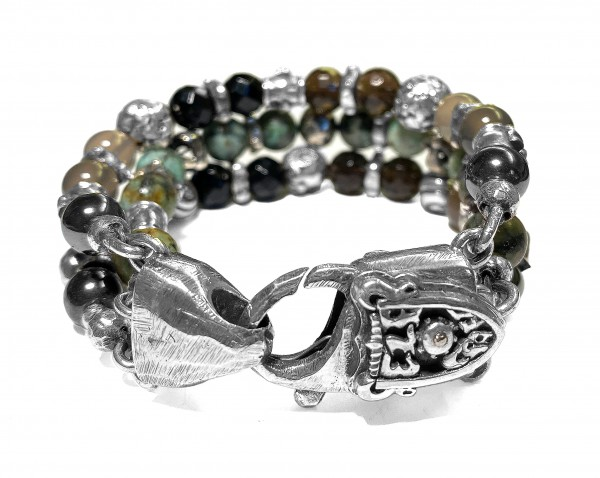 Armband • Beads & Dragon Fire | Skulls & Lily & Crosses Balls