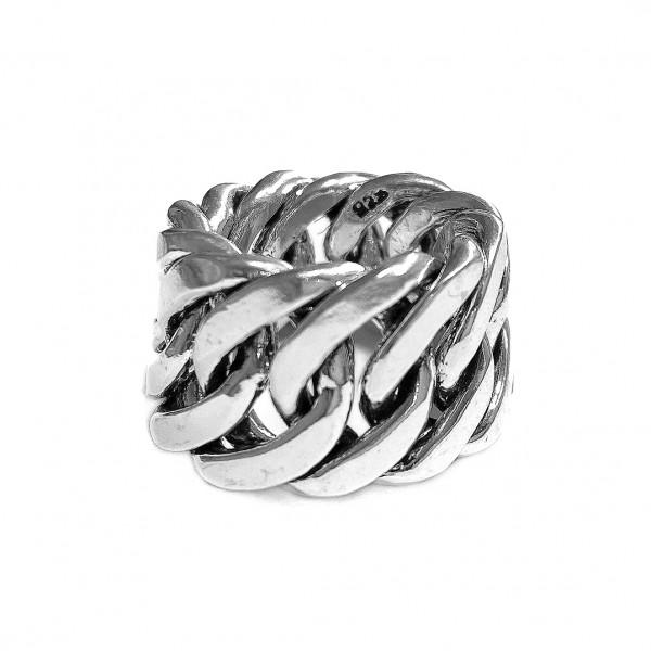Kettenring | Silber • Breit