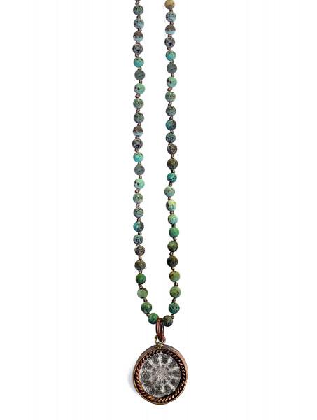 ICON • Kette Buddha Wheel | African Turquoise