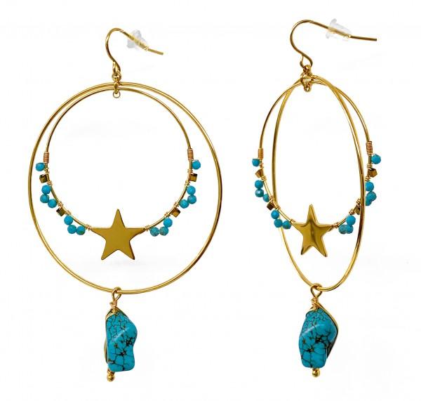 Ohrringe • ZAG   Turquoise   Bohemian