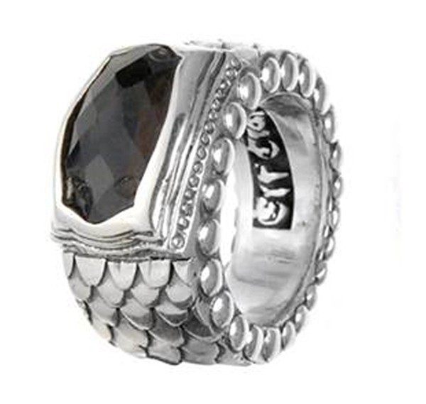 Ring • Dragon Scales Band Oval | Black