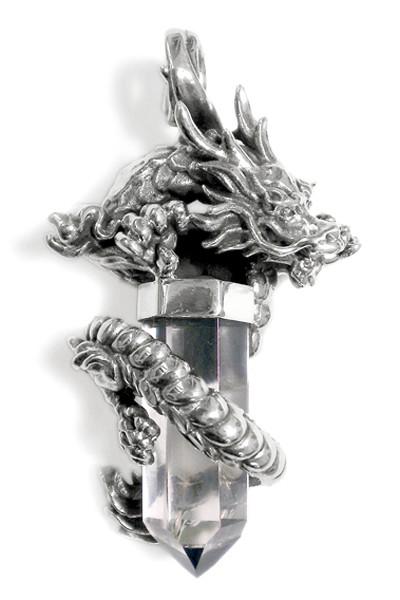 Steinanhänger • Dragon | Bergkristall
