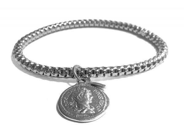 Armband | Münze • Rhodiniert | Gold- oder Rosé Plattiert