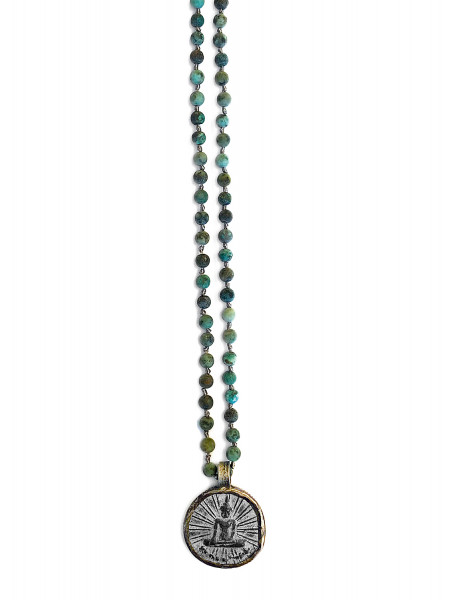 ICON • Kette Buddha32   African Turquoise