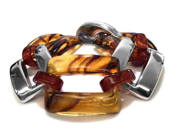Armband • CORA | Resin Square | Horn