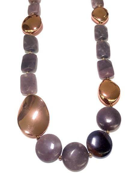 Steinkette • CORA | Mauve | Rosé Plattiert
