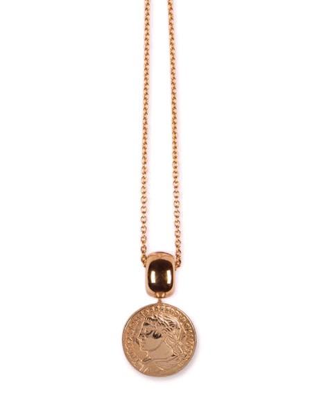 Kette | Wechselstystem-Einhänger • Münze L | Rosé plattiert
