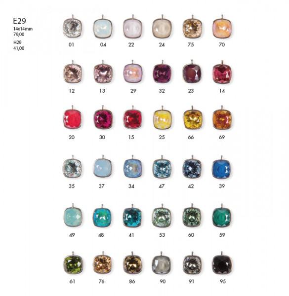 CREOLEN-WECHSELSYSTEM-EINHÄNGER | E29 • Swarovski-Kristalle