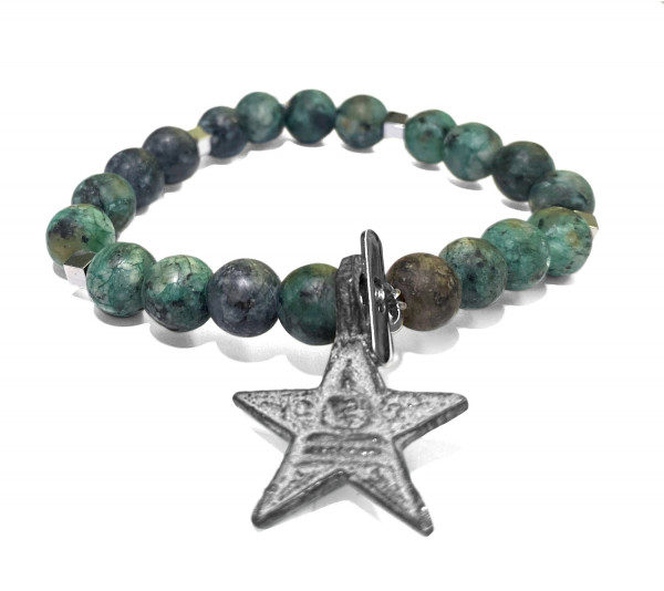 ICON Armband • Shanti Buddha Star | African Turquoise