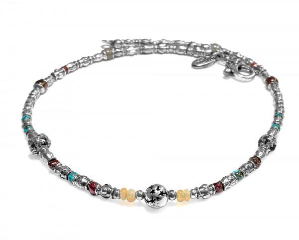 Halskette • Tubes Rough & Zodiac Ball | Stars Balls | Stone Beads