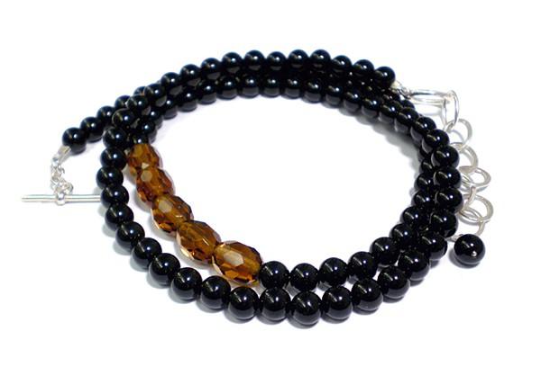 Steinkette • Onyx | Obsidian