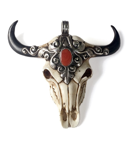 Anhänger • Skull Bull | Coral | Turquoise
