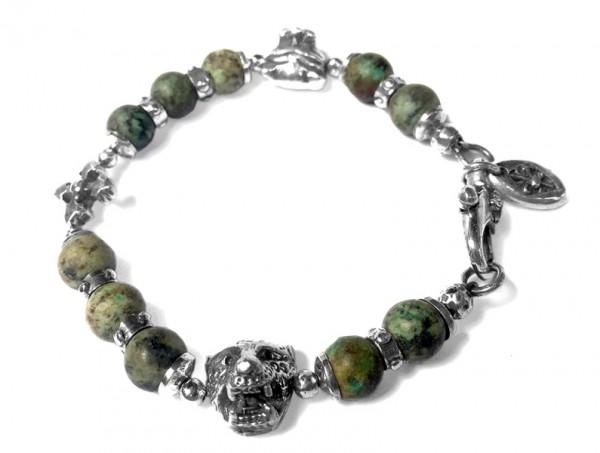 Armband • Beads & Plain | Cross | Lion | Leopard • Turquoise