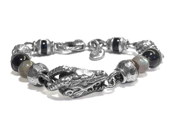 Armband •Beads Dragon & Balls | Smoky Quarz + Labradorit