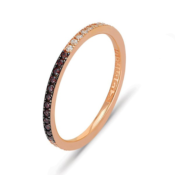 Ring • Eternity Band Ring with Multicolor | Rosé Plattiert