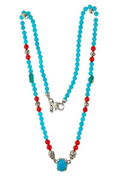 Halskette • Beads & Claw Holder & Silver Balls