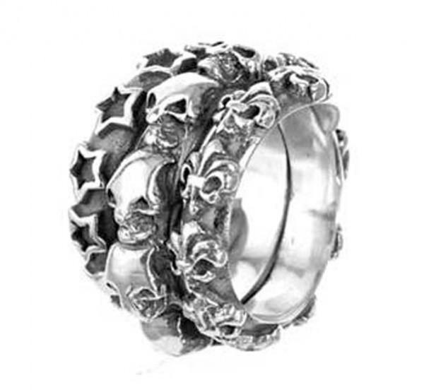 Ring • Spiral | M-Stars & Skulls & Lilies