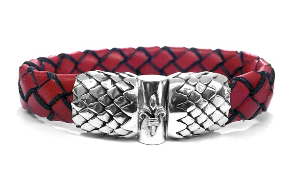 Armband • Lily + Jointlock • Dragon Scales | RED