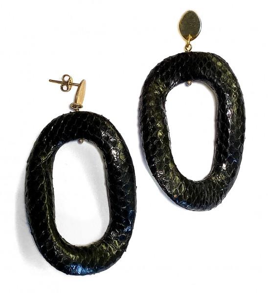 Ohrringe | LOTT • Schlangenleder | Black