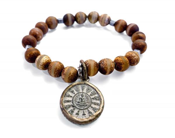ICON Armband • Shanti Buddha10 | Agate Orange