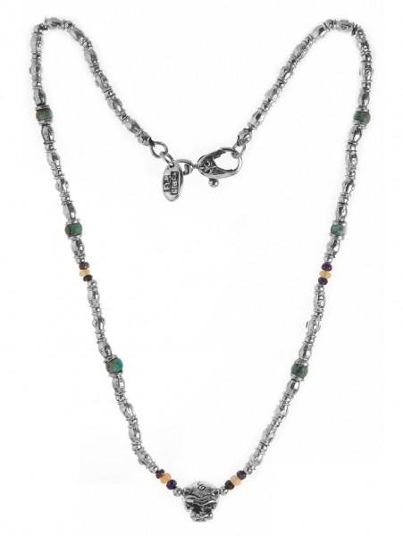 Halskette • Neckchain Tubes & Lion Head & Beads