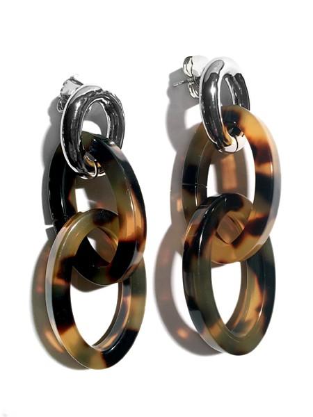 Ohrringe • CORA | Resin Oval | Horn