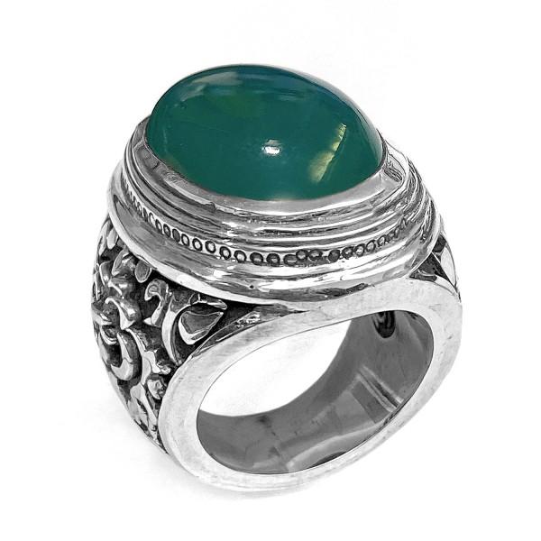 Ring • Elfin Garden at Night   Green Chalcedon
