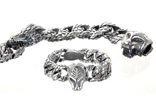 Armband • Tiger & Dragon   Dragonscales & Diamond Eyes