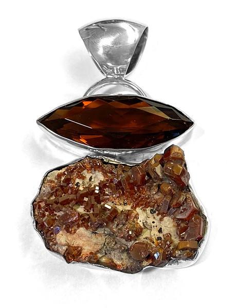 Anhänger • Vanadinit | Obsidian