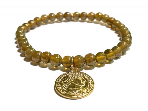 Armband | Münze • Böhmisches Kristallglas
