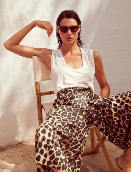 Hosenrock • Pantacourt Satin Leopard | XANA
