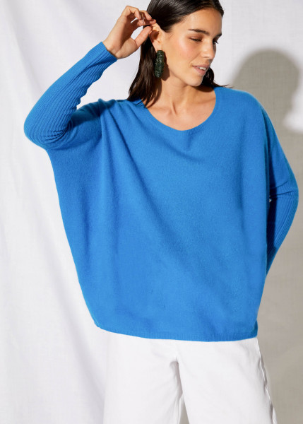 Pullover • Cashmere | Agnes Jumper Poncho | Bleu | Vert