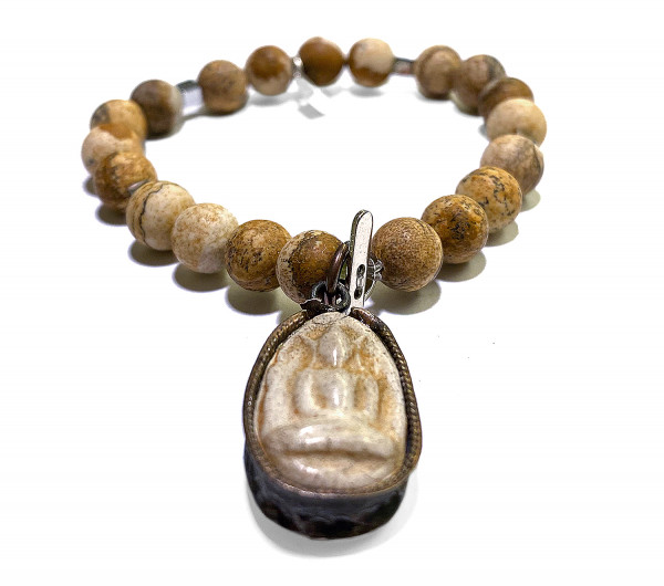 ICON Armband • Shanti Buddha1 | Picture Jaspis