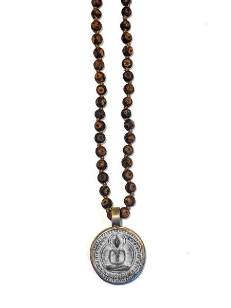 ICON • Kette Buddha30 | Tibetian Agate