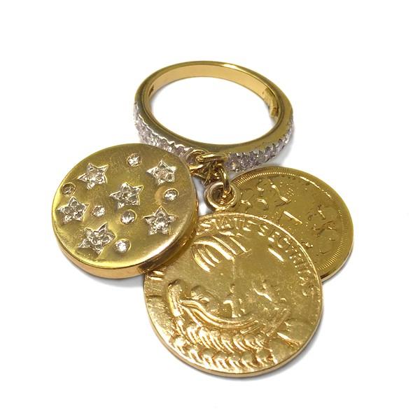 Ring • Coins | Gold Plattiert