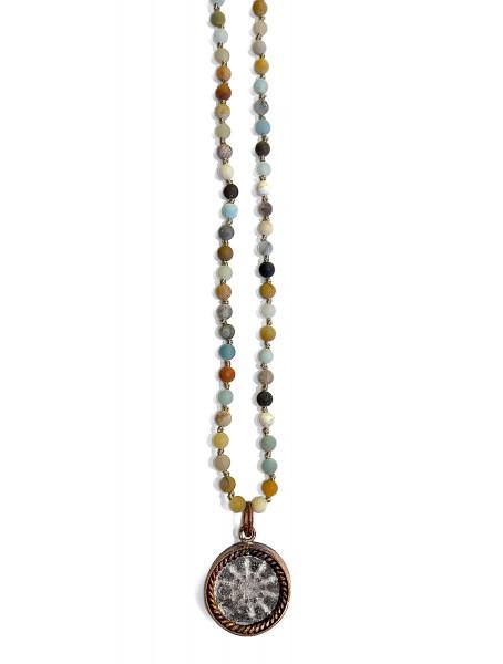 ICON • Kette Buddha Wheel | Amazonite