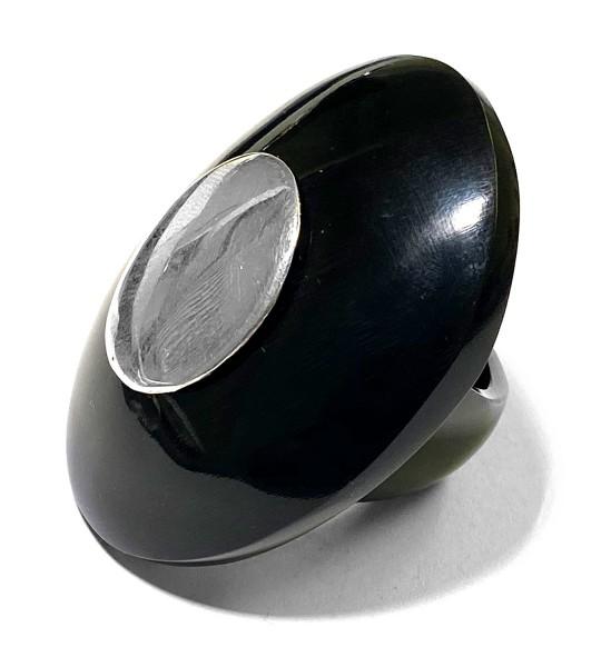 Hornring • Black | Silber