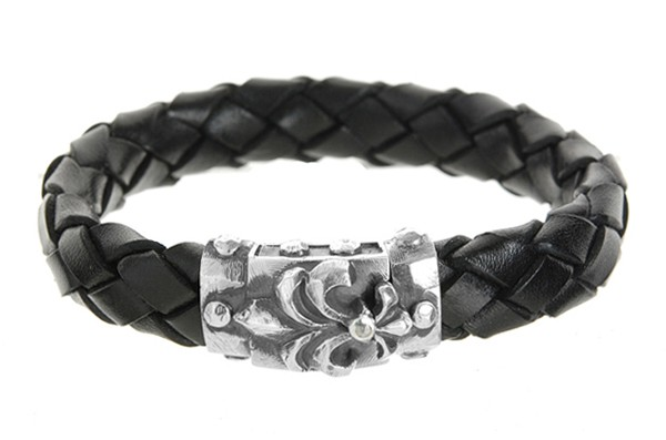 Armband • Lily Boxlock Facetted | Meteorite | 13 mm