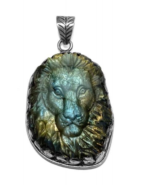 Anhänger • Lion | Labradorit