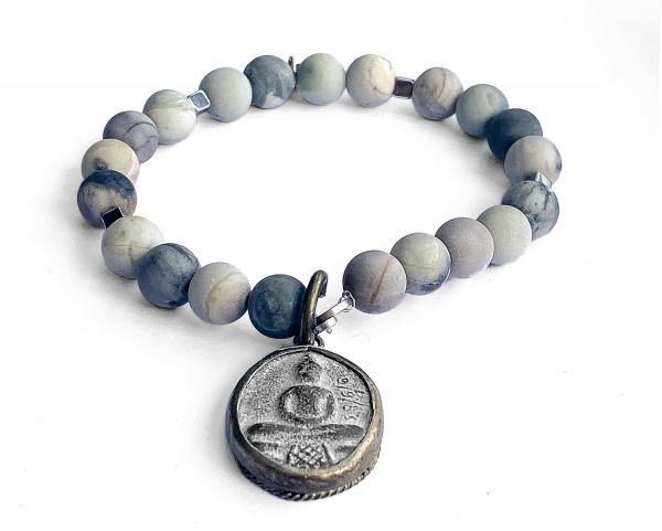 ICON Armband • Shanti Buddha2 | Picasso Jasper
