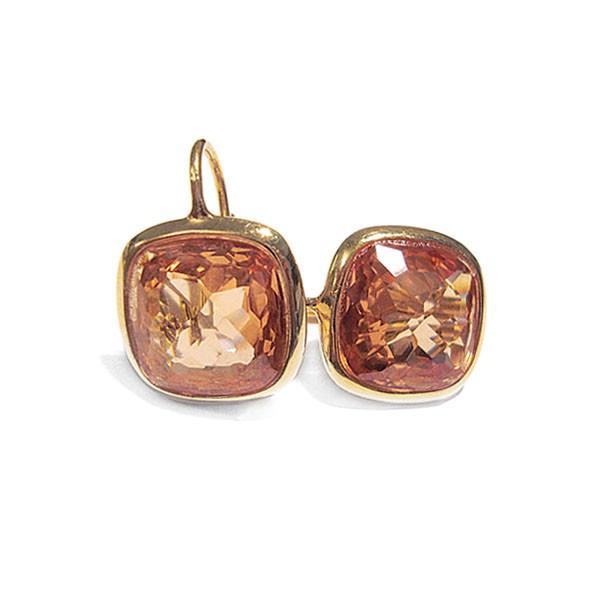 Ohrringe Style • Gold Plattiert   Zirkonia