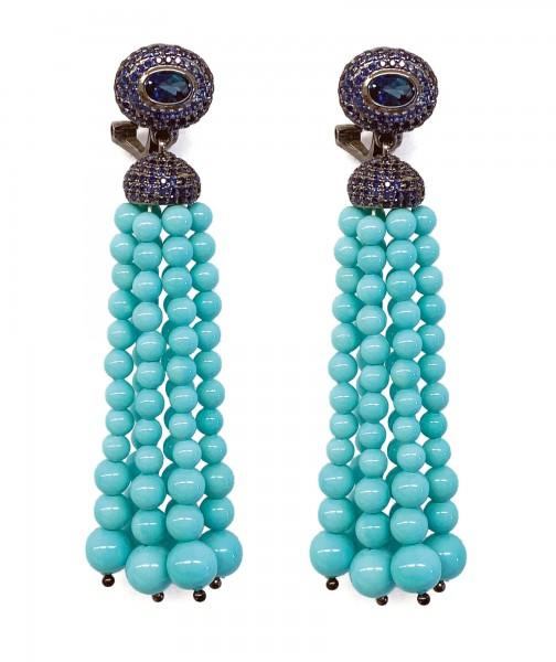 Ohrringe • Tassel | Turquoise
