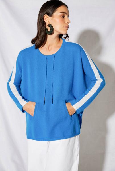 Pullover • Cashmere | UMA Jumper Poncho Stipe | Bleu