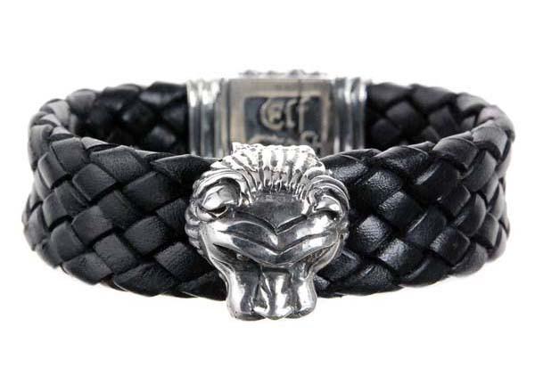 Armband • Lion Head L & Shieldlock & Diamond Eyes