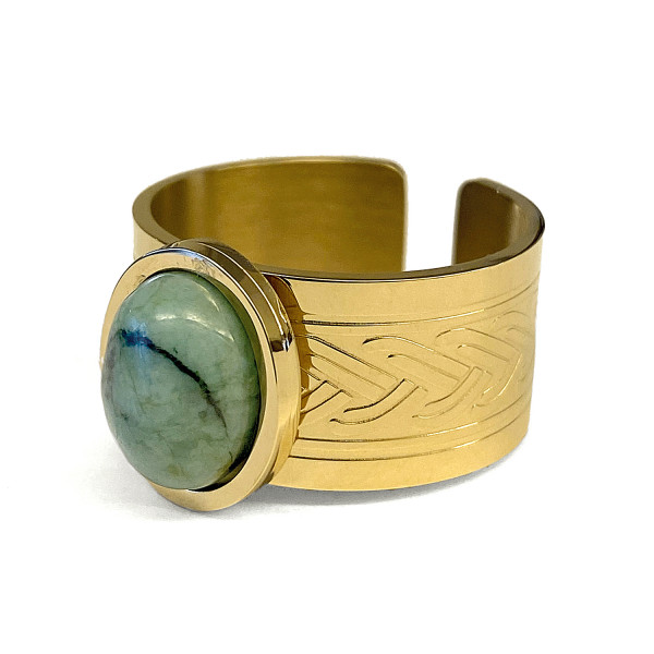RING • ZAG | Band | Oval Turquoise