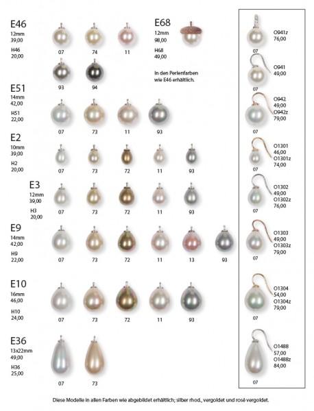 CREOLEN-WECHSELSYSTEM-EINHÄNGER • Mallorquinische Perlen | Glatt