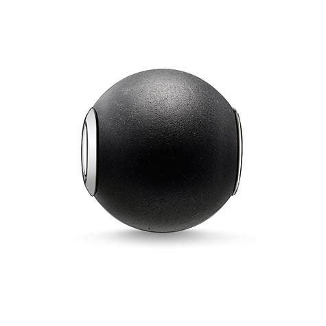 Thomas Sabo | Rebel at Heart • Karma Bead | Obsidian matt