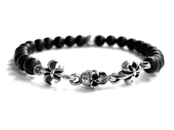 Steinarmband | Onyx • Lily Skull | 3 Lily's