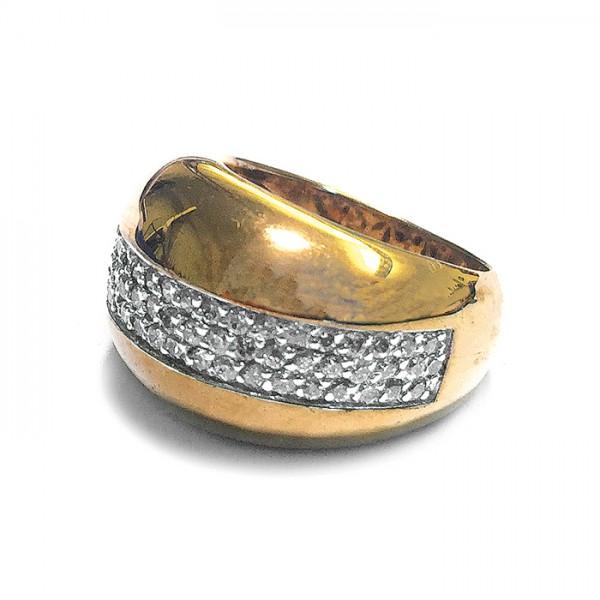 Ring • Gold Plattiert | Pavé