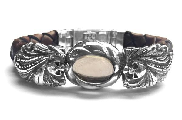 Armband • Magic Plant & Skulls | Smoky
